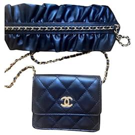 Chanel-Chanel mini wallet on chain-Black