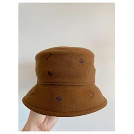 Hermès-Debbie charms bucket hat-Brown