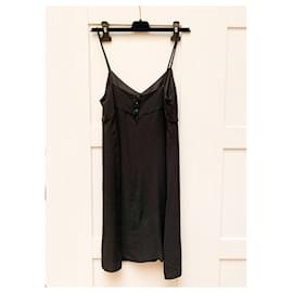 Chanel-Silk Little Black Dress-Black