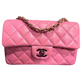 Chanel-Chanel Pink Timeless mini rectangle flap bag-Pink