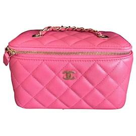 Chanel-Bolsa Chanel Pink Vanity-Rosa