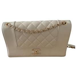 Chanel-Mademoiselle vintage-Beige,Gold hardware