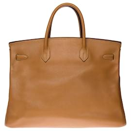 Hermès-Stunning Hermes Birkin handbag 40 cm in Gold Ardenne Cow leather, gold plated metal trim-Golden
