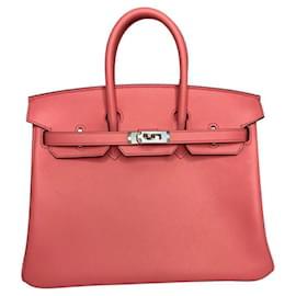 Hermès-HERMES BIRKIN 25 Rose D'eté Swift Leather-Pink