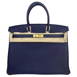 Hermès-HERMES BIRKIN 35 Bleu Nuit Togo Leather-Dark blue