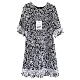 Chanel-New 2018 Logo Fluffy Dress-Multiple colors