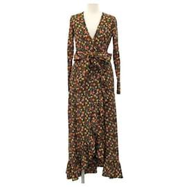 Ganni-[Used] GANNI Multiple Color Floral Dress-Multiple colors