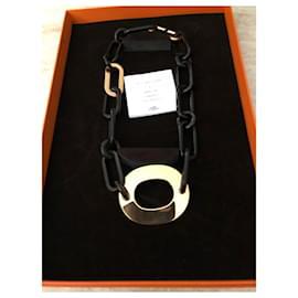 Hermès-Mayance necklace-Dark brown