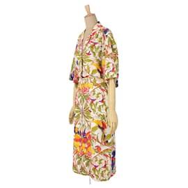 Hermès-[Used] HERMES Vintage One Long Piece Cotton Linen Silk Botanical Ladies-Multiple colors