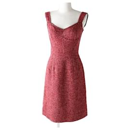 Dolce & Gabbana-[Used] DOLCE & GABANNA Ladies Bustier Style Tweed-Red,Beige