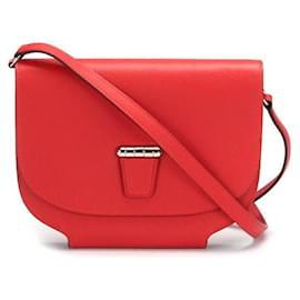 Hermès-Hermes Convoyeur Crossbody Bag in red calf leather leather-Red