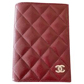 Chanel-Chanel passport holder-Dark red