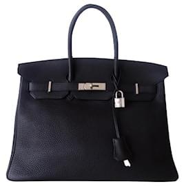 Hermès-HERMES BIRKIN BAG 35 Noir-Black