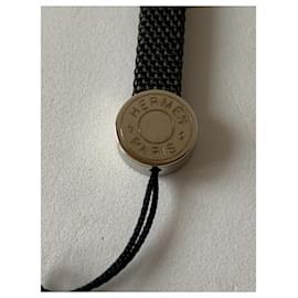 Hermès-Phone charms-Black,Silvery