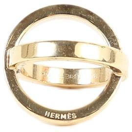 Hermès-[Used] HERMES Scarf Ring Gold Metal Fittings-Gold hardware