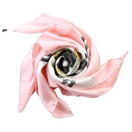 Hermès-[Used] HERMES Carre 90 Silk Pink Scarf-Pink