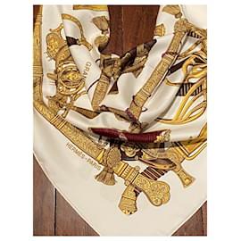 Hermès-Silk scarves-White