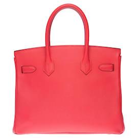 Hermès-Almost -new / Full set Hermès Birkin 30 in Jaïpur Pink Epsom, gold plated metal trim-Pink