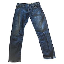 Guess-Pants-Silvery,Blue,Light blue