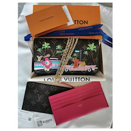 Louis Vuitton-Pouch Felicie Limited Xmas Hollywood-Fuschia,Gold hardware