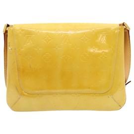 Louis Vuitton-LOUIS VUITTON Vernis Thompson Street Shoulder Bag Beige M91301 LV Auth fm652-Beige