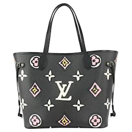 Louis Vuitton-Black x Pink Monogram Wild at Heart Neverfull Tote bag-Other