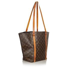 Louis Vuitton-Louis Vuitton Brown Monogram Sac Shopping 48-Brown