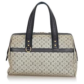 Louis Vuitton-Louis Vuitton Gray Monogram Mini Lin Josephine GM-Black,Grey