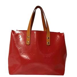 Louis Vuitton-Louis Vuitton Red Vernis Reade PM-Brown,Red,Light brown