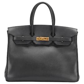 Hermès-Hermes Black Togo Birkin 35-Black
