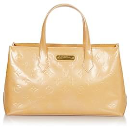Louis Vuitton-Louis Vuitton Brown Vernis Wilshire PM-Brown,Beige