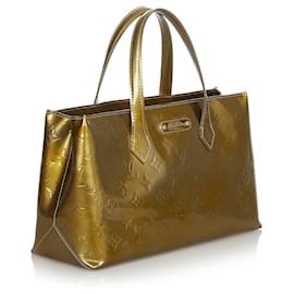 Louis Vuitton-Louis Vuitton Gold Vernis Wilshire PM-Golden