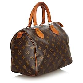 Louis Vuitton-Louis Vuitton Brown Monogram Speedy 25-Brown