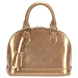 Louis Vuitton-Louis Vuitton Brown Vernis Alma BB-Brown,Light brown