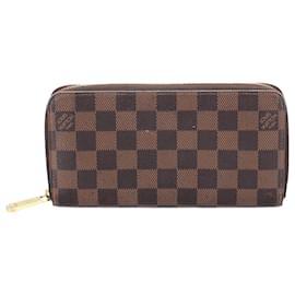 Louis Vuitton-Louis Vuitton Brown Damier Ebene Zippy Wallet-Brown