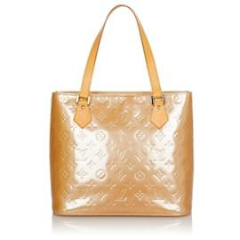 Louis Vuitton-Louis Vuitton Brown Vernis Houston-Brown,Beige