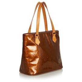 Louis Vuitton-Louis Vuitton Brown Vernis Houston-Brown,Light brown