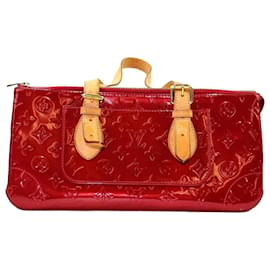 Louis Vuitton-Louis Vuitton Red Vernis Rosewood-Brown,Red,Light brown