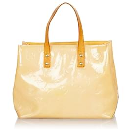 Louis Vuitton-Louis Vuitton Brown Vernis Reade PM-Brown,Beige