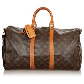 Louis Vuitton-Louis Vuitton Brown Monogram Keepall 45-Brown