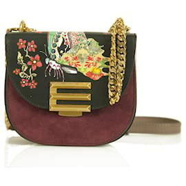 Etro-Etro small Pegaso suede leather crossbody bag messenger shoulder bag butterfly-Multiple colors