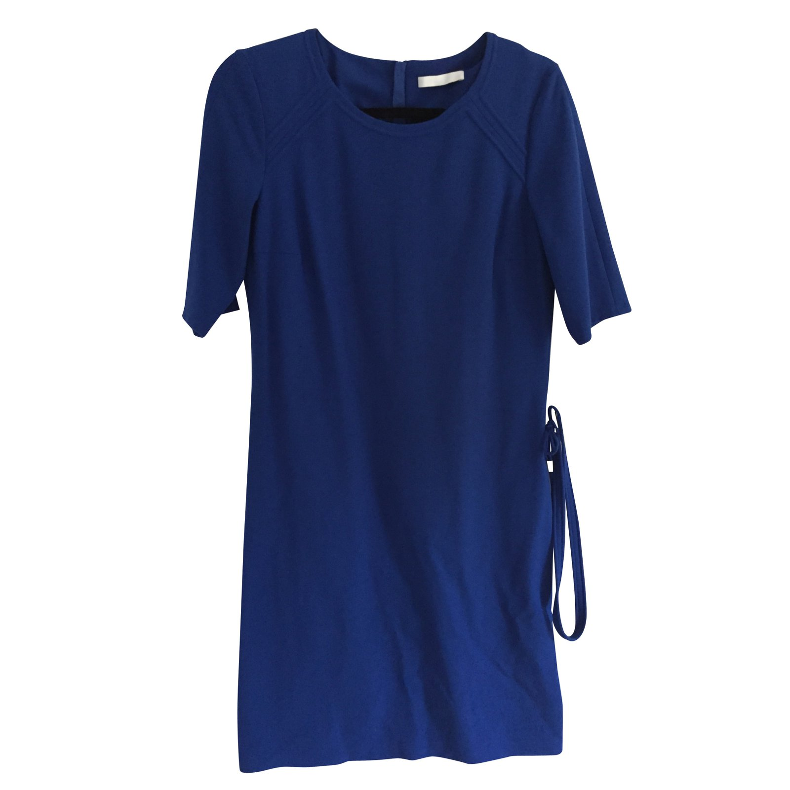 Robes hugo boss robe coton bleu joli closet for Robe de mariage hugo boss