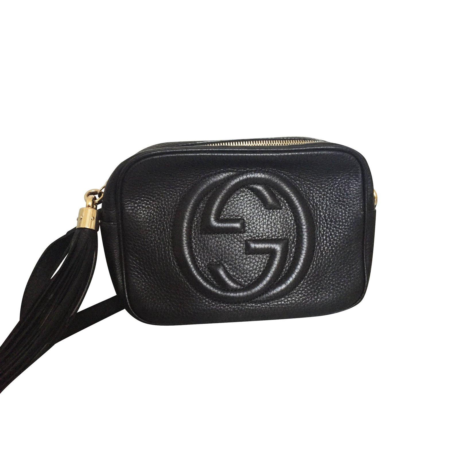 Sacs à main Gucci Disco Bag Soho Cuir Noir Cuir Noir ref.5799 - Joli ... 4fca7556b9b