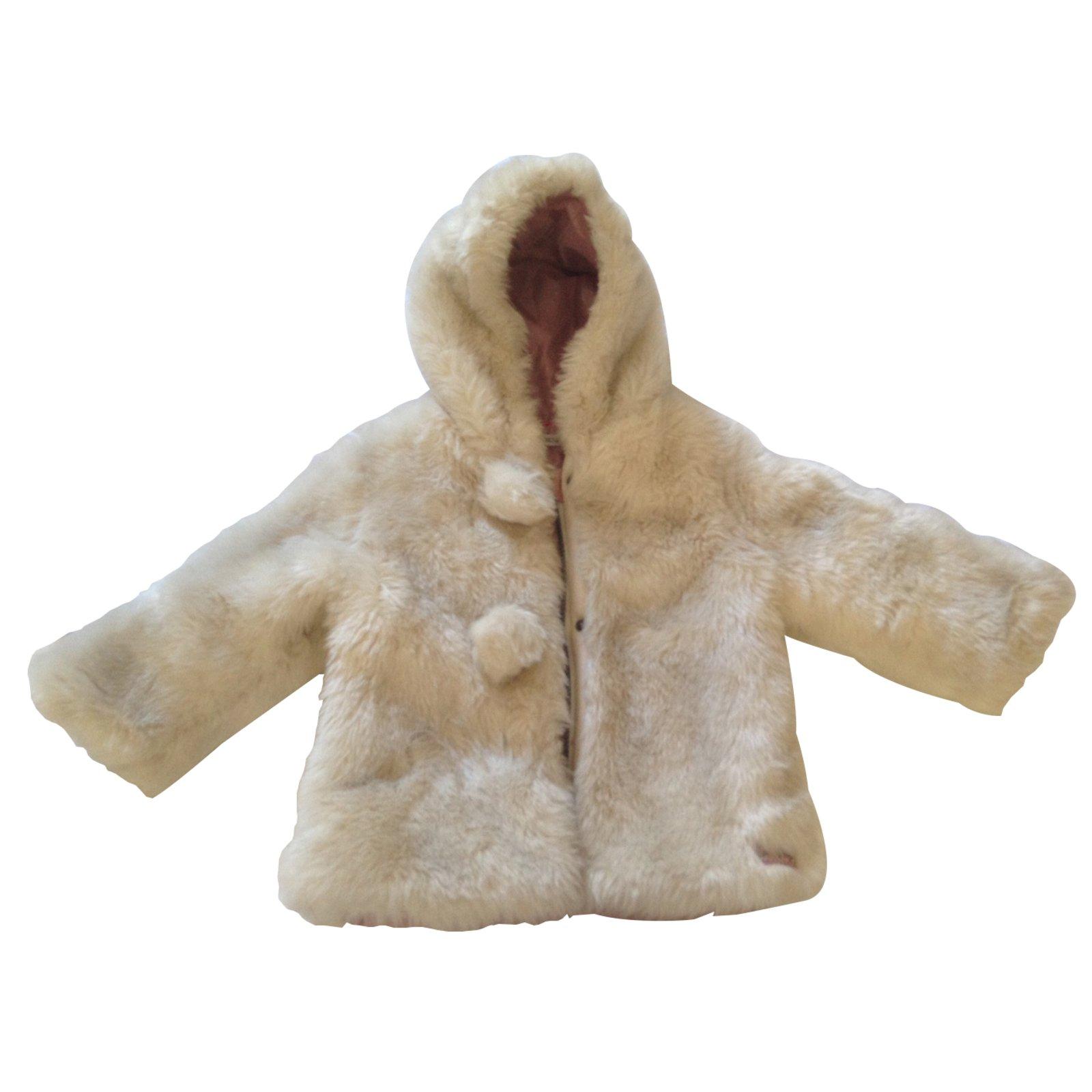 ikks manteau fourrure fille bébé