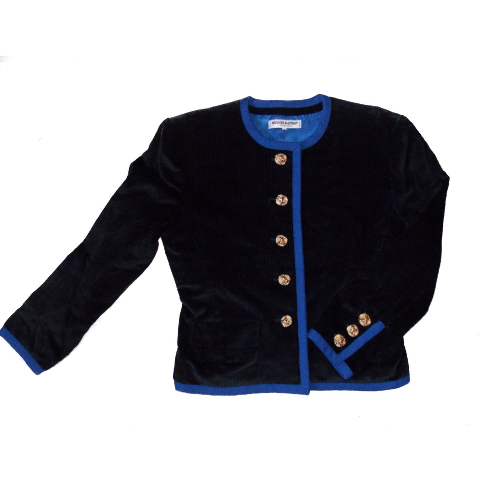 b36835e4bb0 Yves Saint Laurent Jackets Jackets Velvet Black ref.6510 - Joli Closet