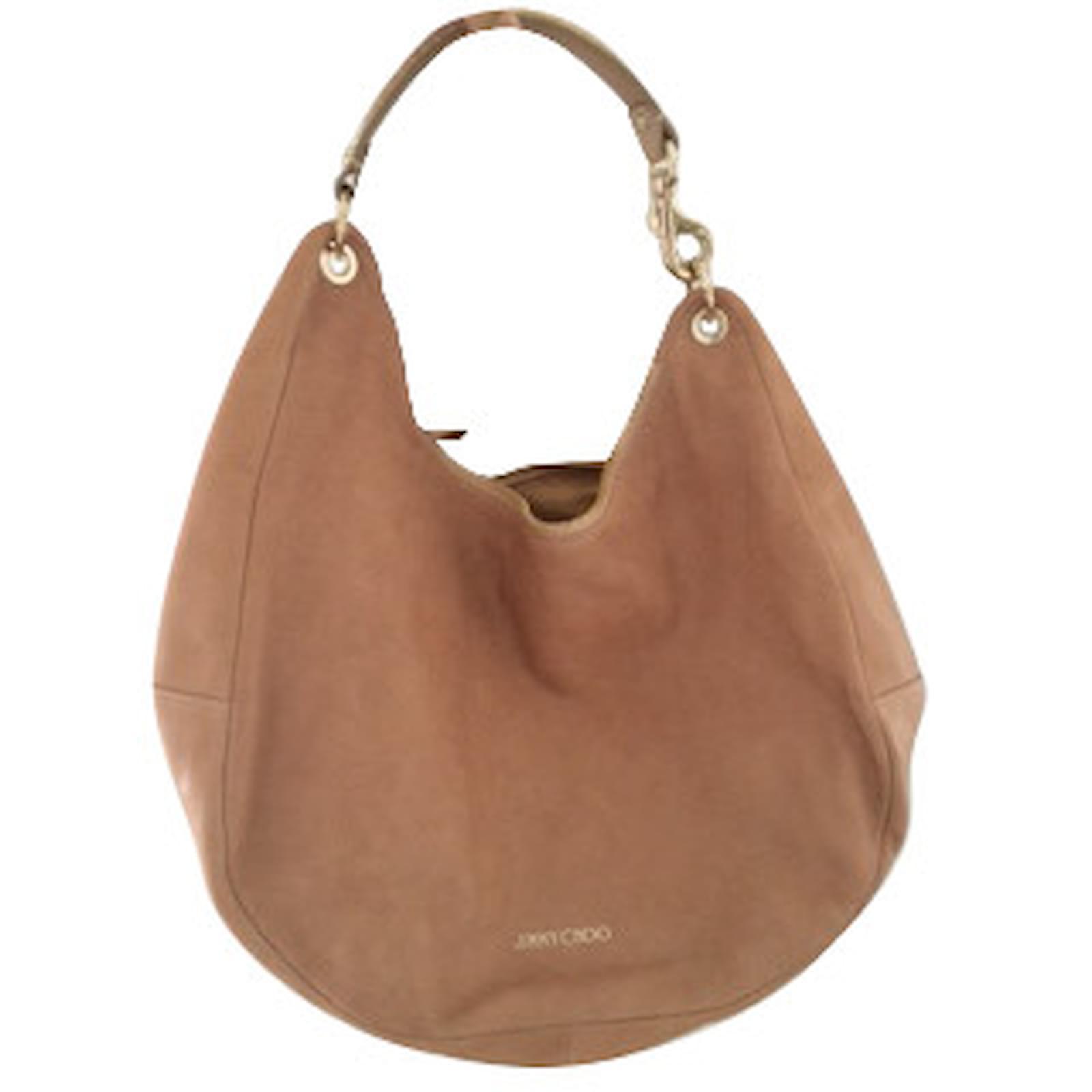 8c9000a60b Jimmy Choo Handbags Handbags Leather Beige ref.6644 - Joli Closet
