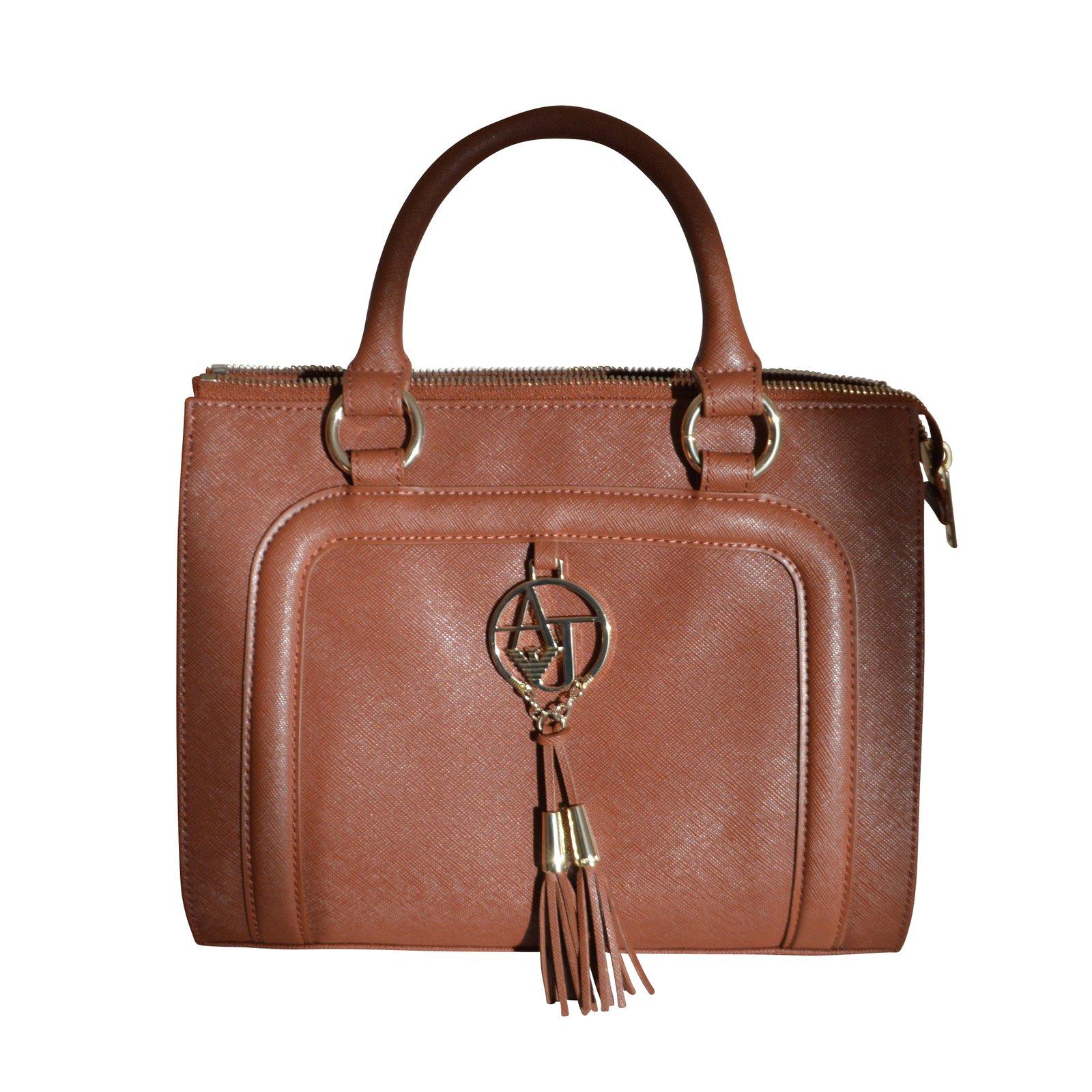 ... Giorgio Armani Handbags Leather Caramel Ref 6751 Joli Closet premium  selection 38599 0a783 ... 7b7ab4e08855e