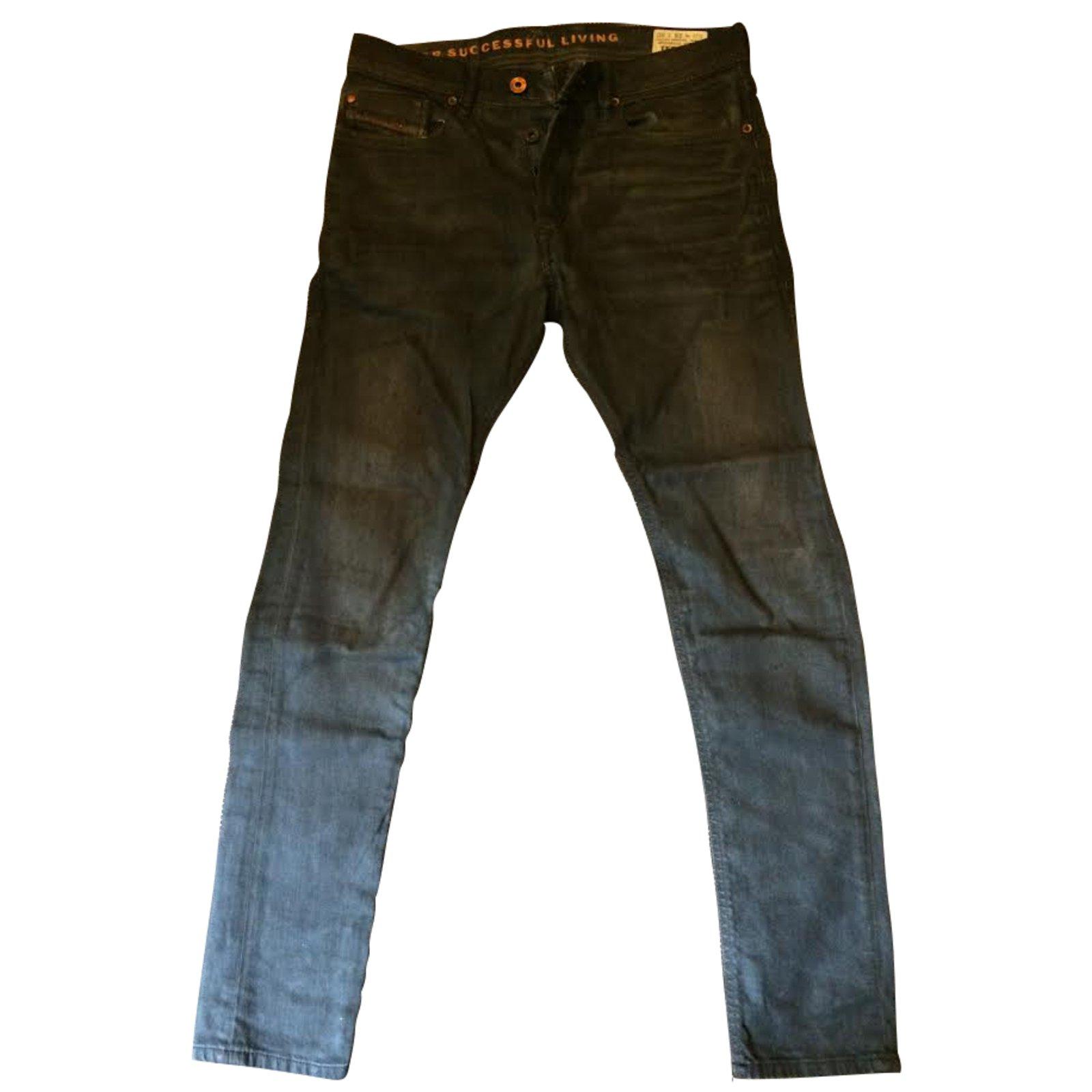 jeans diesel tepphar jean noir joli closet. Black Bedroom Furniture Sets. Home Design Ideas