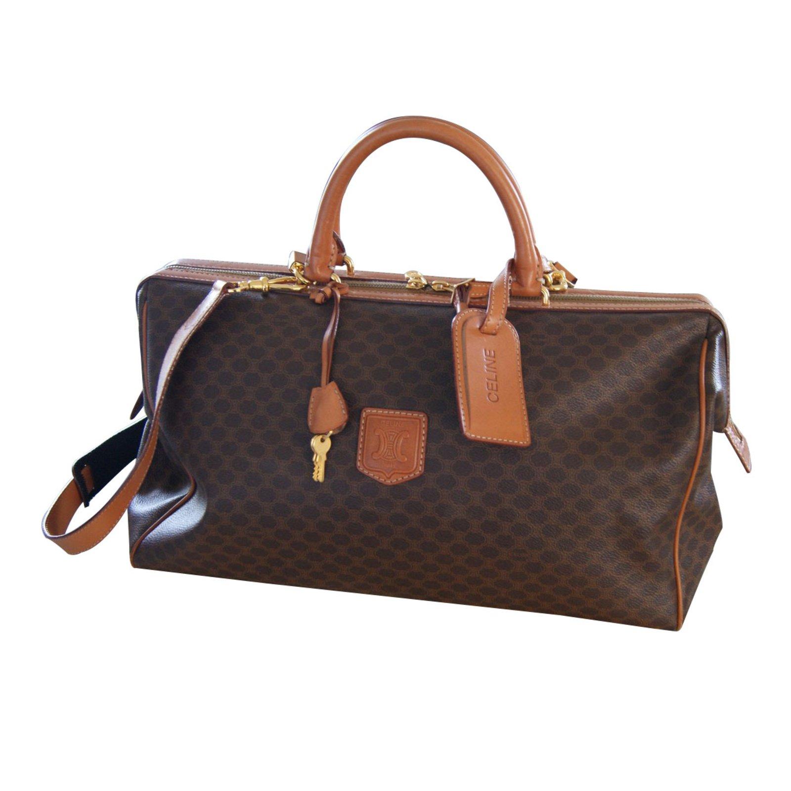 sacs de voyage c line doctor toile marron joli closet. Black Bedroom Furniture Sets. Home Design Ideas