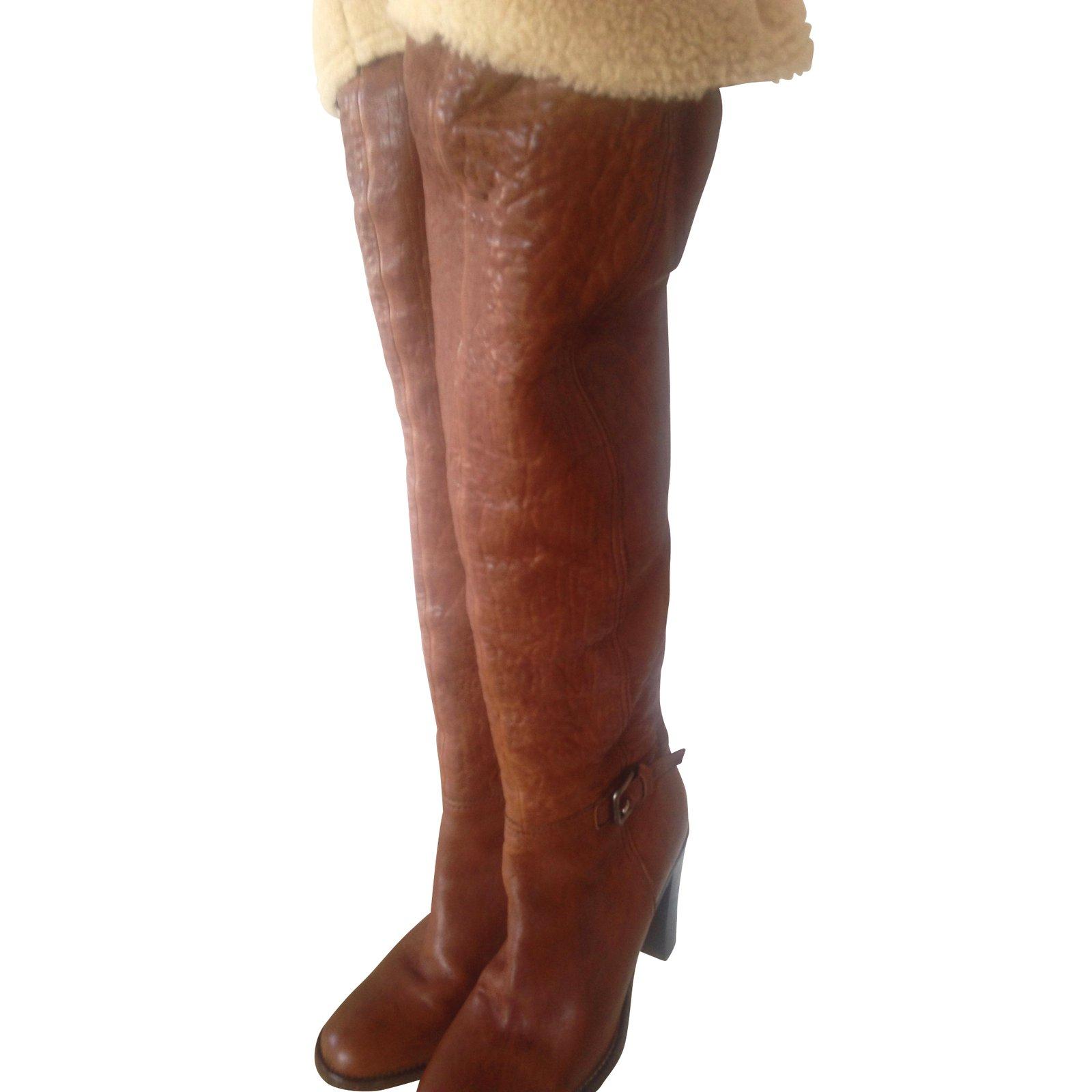 bottes cuir doublure mouton